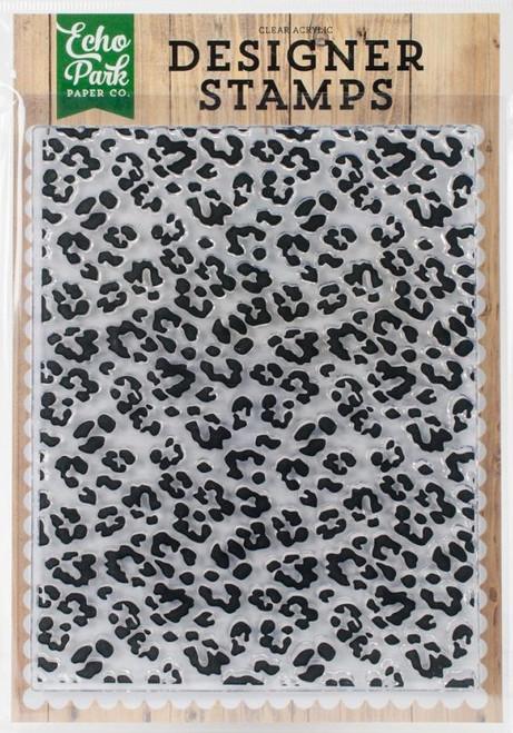 Cheetah Print Acrylic Cling Stamp Echo Park
