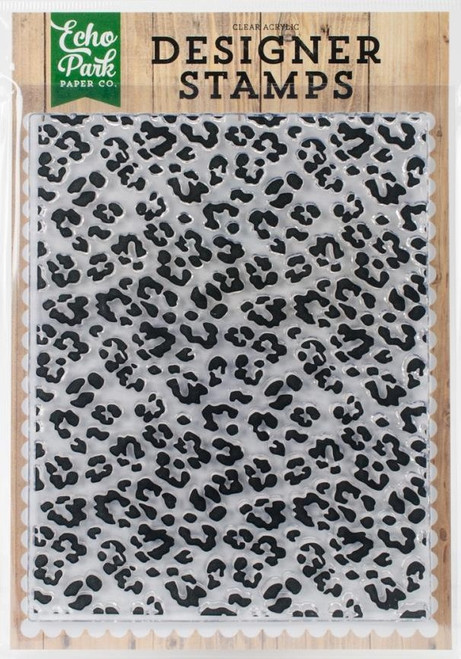 Cheetah Print Acrylic Cling Stamp Echo Park