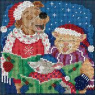 Caroling Trio Buttons & Beads Counted Cross Stitch Kit Mill Hill
