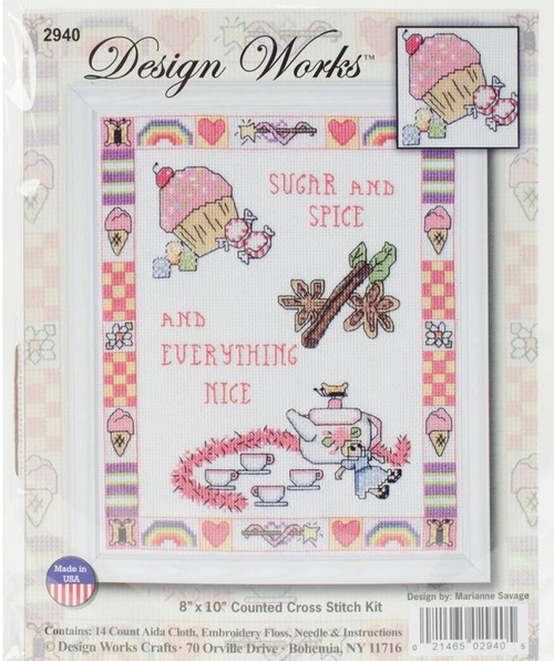 Sugar & Spice Counted Cross Stitch Kit Design Works