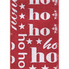 Ho Ho Ho White on Red Burlap Wide Wired Ribbon 25 Yards