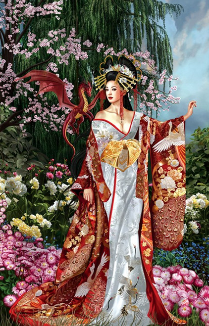 Queen of Silk 1000 Piece Jigsaw Puzzle Nene Thomas Sunsout