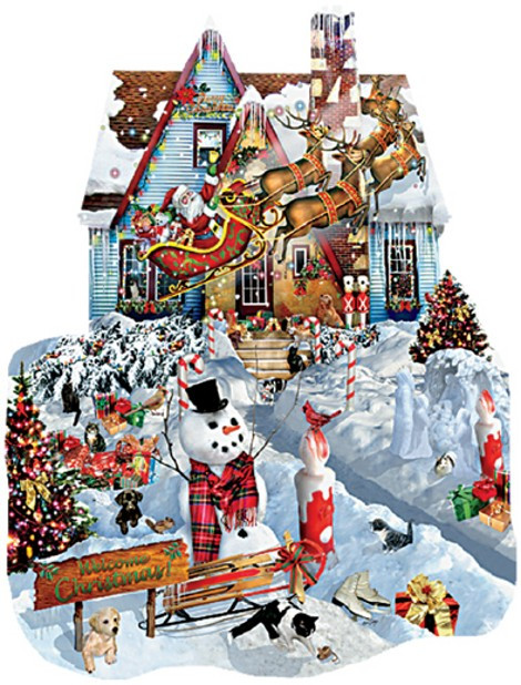 Christmas At Our House 1000 Piece Jigsaw Puzzle Lori Schory Sunsout