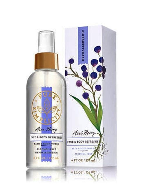 Acai Berry Face & Body Refresher Fragrance Mist Bath and Body Works 6oz