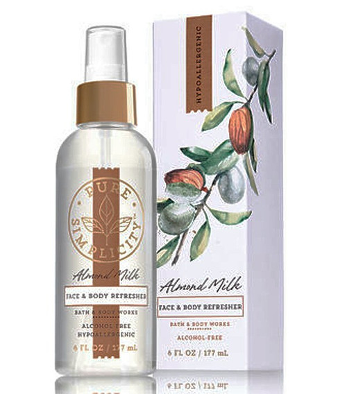 Almond Milk Face & Body Refresher Fragrance Mist Bath and Body Works 6oz