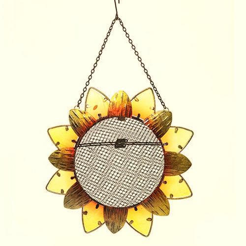 Sunflower Glass Suncatcher & Metal Bird Feeder Yankee Candle