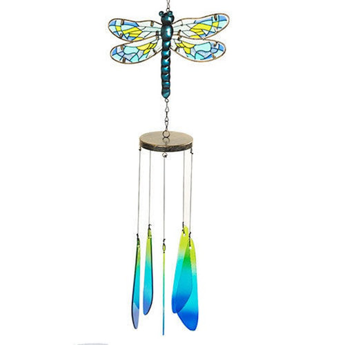 Dragonfly Glass Suncatcher & Metal Wind Chime Yankee Candle