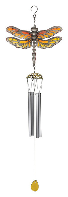 Dragonfly Rustic Metal Garden Wind Chime Regal Gifts