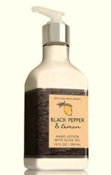 Black Pepper & Lemon Olive Oil Hand Lotion Bath and Body Works 10oz