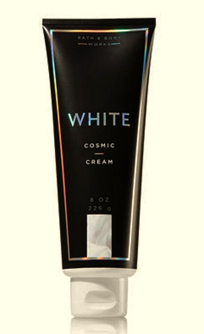 White Cosmic Shimmer Cream Bath and Body Works 8oz