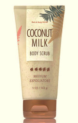 Coconut Milk Medium Exfoliating Body Scrub Bath and Body Works 5oz