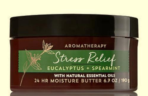 Eucalyptus & Spearmint Stress Relief Aromatherapy Body Butter Bath and Body Works 6.7oz