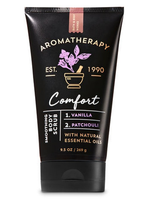 Vanilla Patchouli Comfort Aromatherapy Smoothing Body Scrub Bath and Body Works 9.5oz