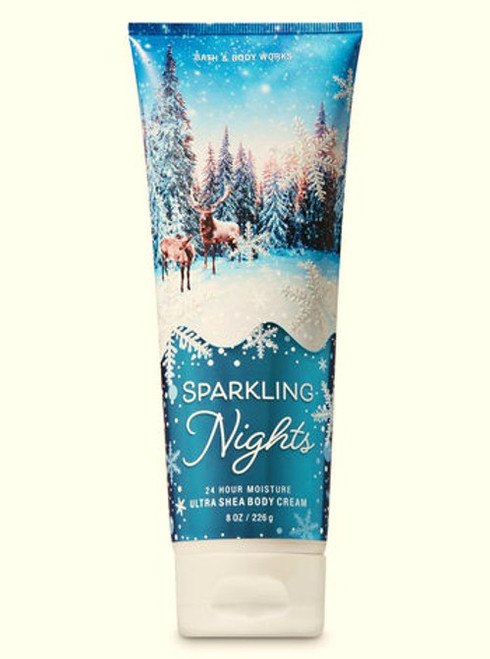Sparkling Nights Ultra Shea Body Cream Bath and Body Works 8oz