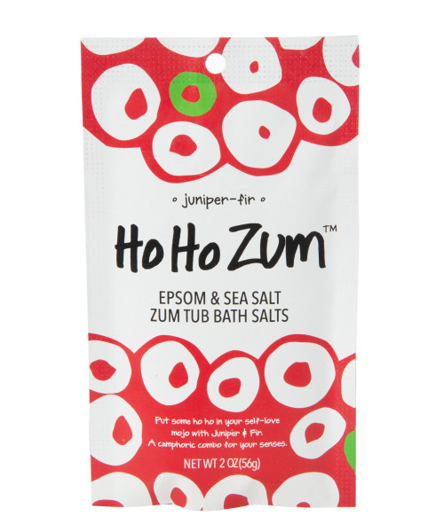 HoHo Zum Juniper Fir Zum Tub Single Bath Salt Packet Indigo Wild 2oz