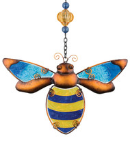 Bumble Bee Glass Metal Hanging Suncatcher
