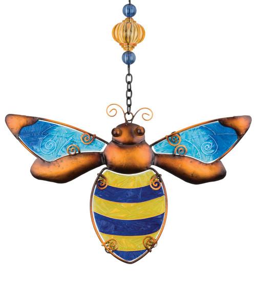 Bumble Bee Glass Metal Hanging Suncatcher