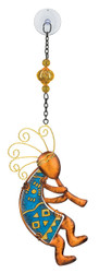Kokopelli Glass Metal Hanging Sun Catcher