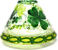 Lucky Shamrocks Crackle Glass Jar Shade Yankee Candle