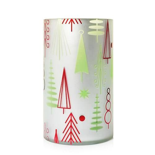Winter Wonderment Mod Christmas Glass Metallic Jar Pillar Holder Yankee Candle