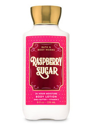 Raspberry Sugar Super Smooth Body Lotion Bath and Body Works 8oz