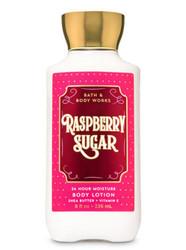 Raspberry Sugar Super Smooth Body Lotion Bath and Body Works 8oz