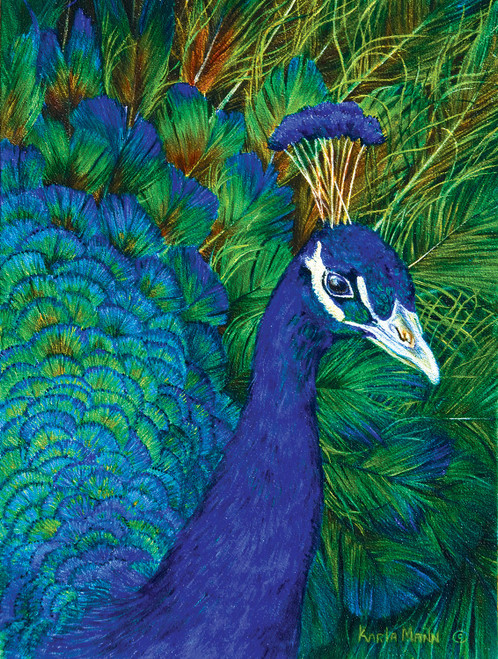 Peacock 1000 Piece Jigsaw Puzzle Karla Mann Sunsout