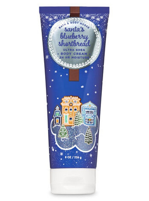 Santa's Blueberry Shortbread Ultra Shea Body Cream Bath and Body Works 8oz