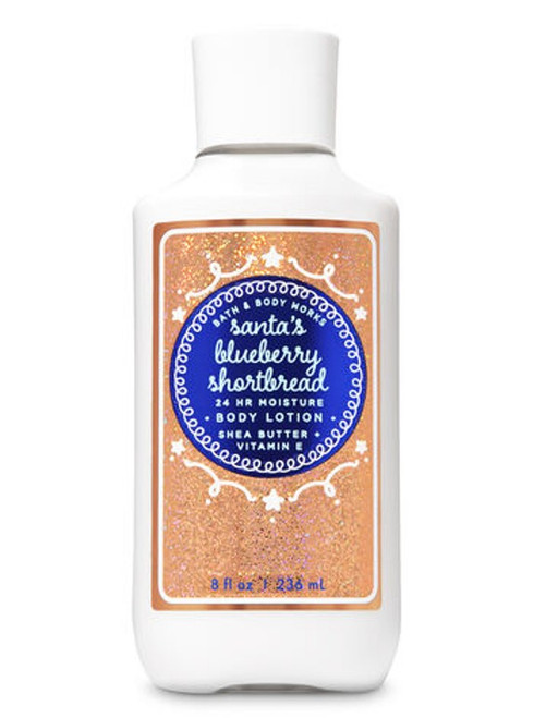 Santa's Blueberry Shortbread Super Smooth Body Lotion Bath and Body Works 8oz