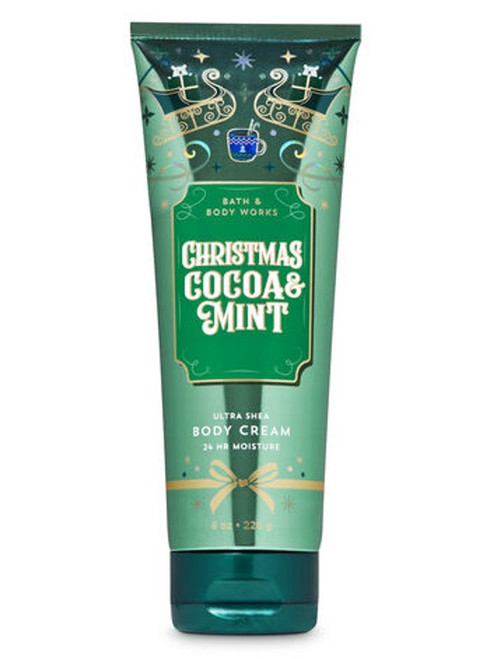 Christmas Cocoa & Mint Ultra Shea Body Cream Bath and Body Works 8oz