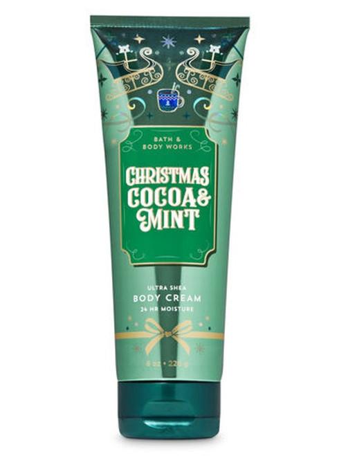 Christmas Cocoa & Mint Ultra Shea Body Cream Bath and Body Works 8oz