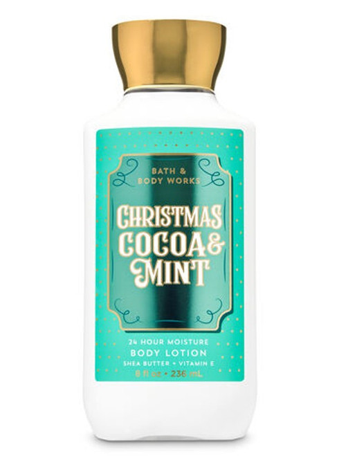 Christmas Cocoa & Mint Super Smooth Body Lotion Bath and Body Works 8oz