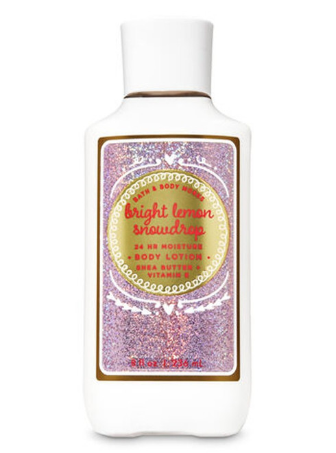Bright Lemon Snowdrop Super Smooth Body Lotion Bath and Body Works 8oz