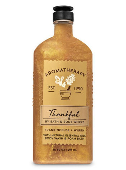Frankincense & Myrrh Thankful Aromatherapy Shower Wash Bath Foam Bath and Body Works 10oz