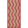 Pink Chevron on Natural Burlap Weave Burzag Wide Wired Ribbon 10 yards