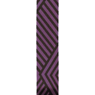 Purple Black Angular Stripes on Solid Jive Wired Ribbon 25yd