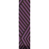 Purple Black Angular Stripes on Solid Jive Wired Ribbon 25yd