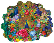 Garden Peacock 1000 Piece Shaped Jigsaw Puzzle Aimee Stewart Sunsout