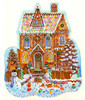 Gingerbread House 1000 Piece Shaped Jigsaw Puzzle Wendy Edelson Sunsout