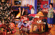 Christmas Thieves 1000 Piece Jigsaw Puzzle Susan Brabeau Sunsout
