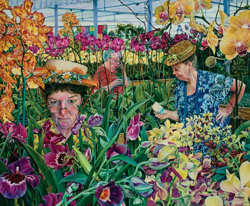 Orchids With Mantis 1000 Piece Jigsaw Puzzle Susan Brabeau Sunsout