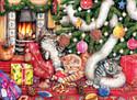 Cats & Baubles 500 Piece Jigsaw Puzzle Debbie Cook Sunsout