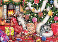 Cats & Baubles 500 Piece Jigsaw Puzzle Debbie Cook Sunsout