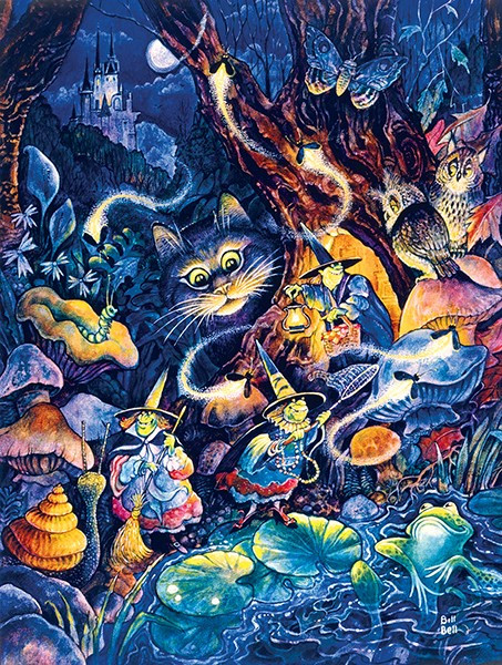 Three Witches 500 Piece Jigsaw Puzzle Bill Bell Sunsout