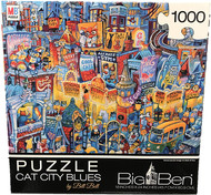 Cat City Blues 1000 Piece Jigsaw Puzzle Bill Bell