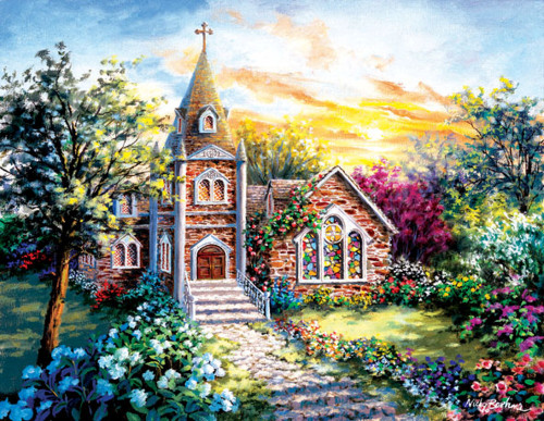 A Tranquil Setting 1000 Piece Jigsaw Puzzle Nicky Boehme Sunsout