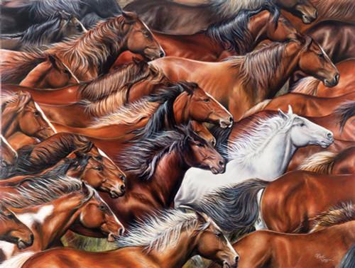 Horse of A Different Color 500 Piece Jigsaw Puzzle Rick Unger Sunsout