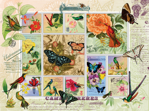Butterfly Hummingbird Flight 1000 Piece Jigsaw Puzzle Finchley Arts Sunsout