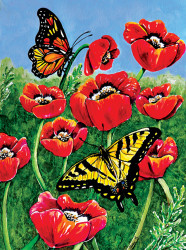 Monarch & Swallowtails 1000 Piece Jigsaw Puzzle Charlsie Kelly Sunsout