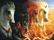 Four Horses of the Apocalypse 1500 Piece Jigsaw Puzzle Sharlene Osorio
